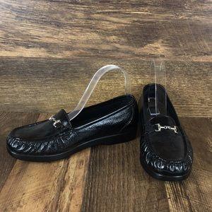 SAS Tripad Black Leather Loafers Women's Sz 8.5W